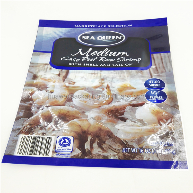 Frozen Seafood Packaging Bag / Nylon Retort Pouch for Frozen Food