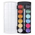 Amazon Hot Selling 12 Metallic Colors Watercolor Paint set