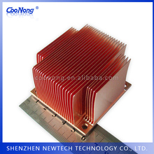 Skiving technology China custom copper 60mm width square camera aluminum heatsink