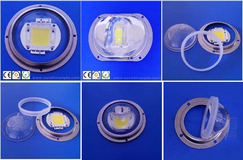 120Degree Bead Surface Dia 66mm  Led Glass Lens