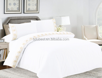 High Quality White Custom Import Blank Bed Linen For Hotels
