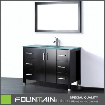 Floor Standing Marble Top 42 Inch Single Sink Bathroom Vanity Canada