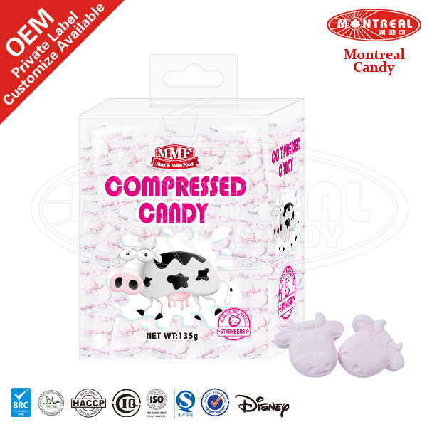 5067 Cow Shape Candies Confectionery Products With Strawberry Flavor