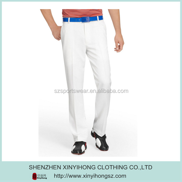 Custom performance Pleated Front mens golf pants