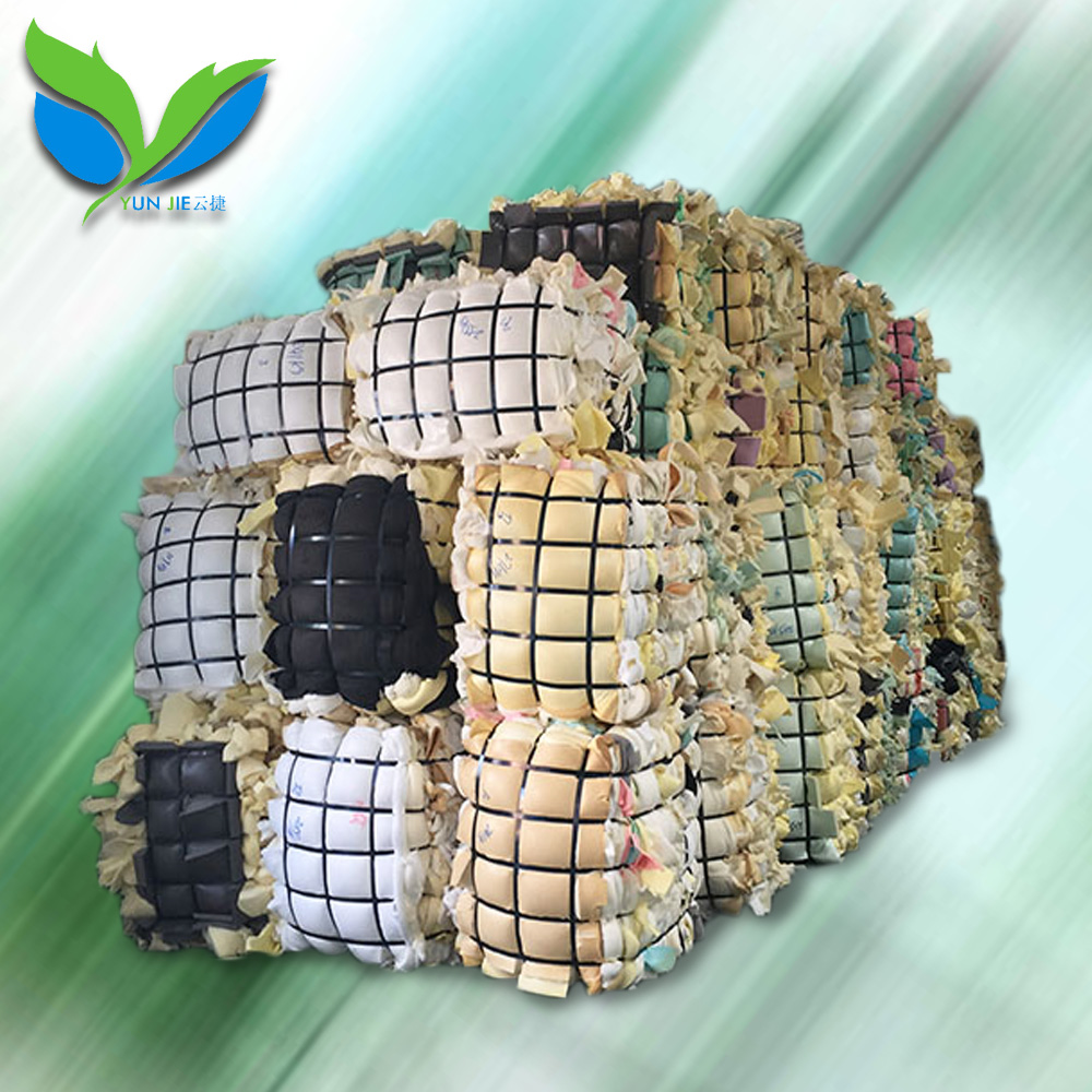 PU film baled clean mix color foam baled scraps