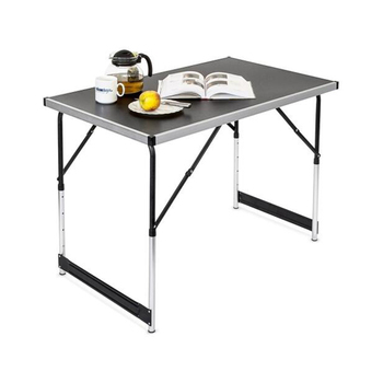 Height Adjule Folding Utility Camping Picnic Table White Granite