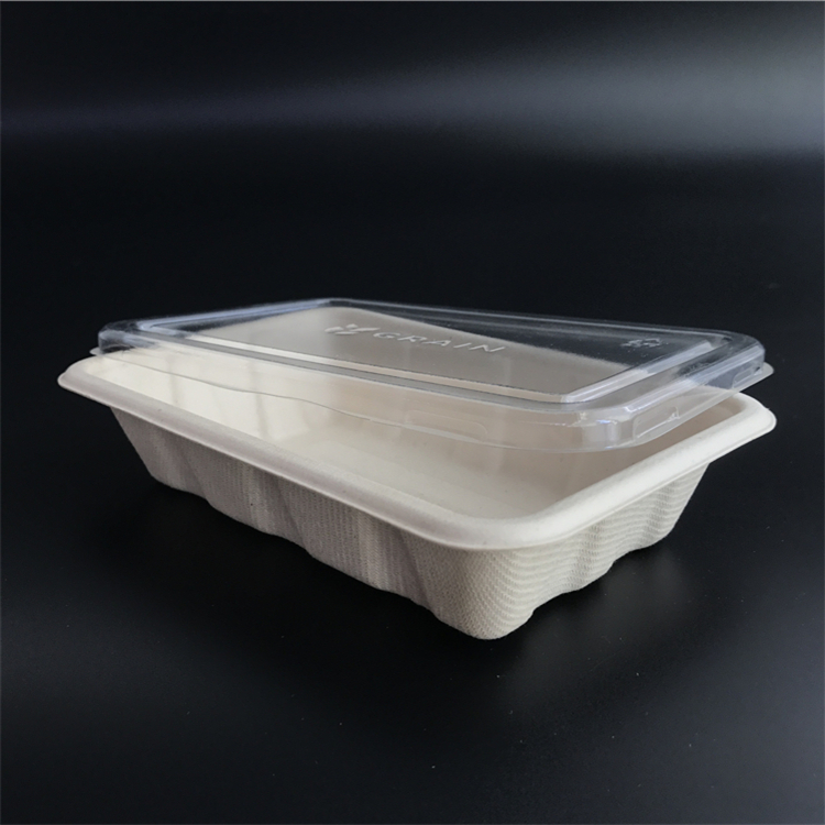 Custom Supermarket PLA Biodegradable Frozen Food Meat Tray with Lid