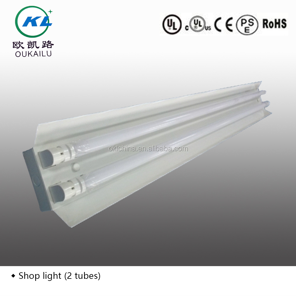 2ft4ft8ft surface mounted commercial t8 fluorescent lighting 2ft4ft8ft surface mounted commercial t8 fluorescent lighting fixture with reflector from factory arubaitofo Image collections