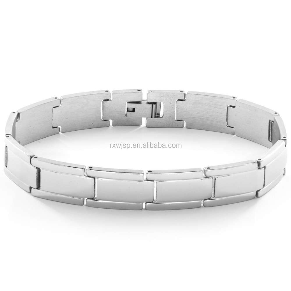 "New High Quality & Polished Finished Men's 8.5"" 316L Stainless Steel Link Bracelet"