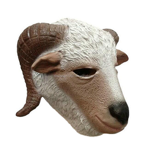 Funny Costume Cosplay Full Heads Adult Animal Latex Goat Masks For Halloween Party