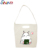 Extra large white custom logo printed ladies canvas tote bag wholesale