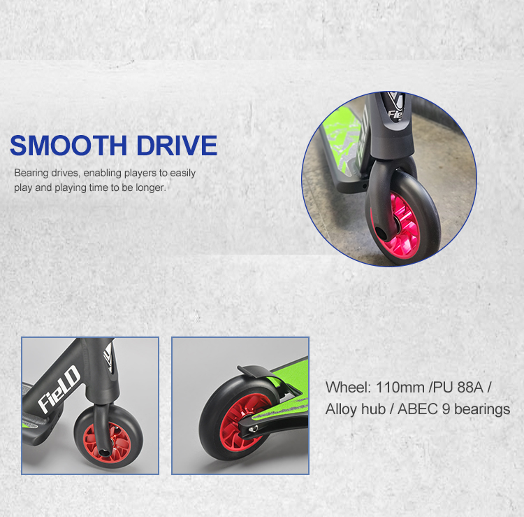 Guangzhou high brake 110mm wheel electric extreme sport freestyle kick adult stunt scooter for kid, teenager, man, woman