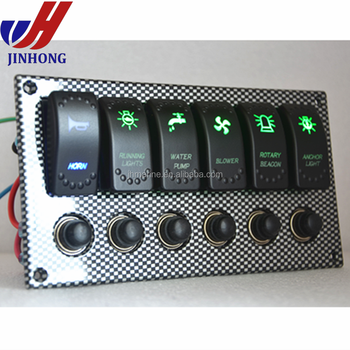 Waterproof 12v Marine Boat Switch Panel With Laser Engraving, View marine  switch panel, JH Product Details from Ningbo Jinhong Electronic Co , Ltd   on