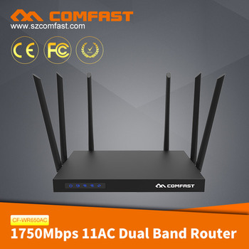 Comfast Cf-wr650ac Qualcomm Top Wifi Routers Antenna How To Disable Wifi On  Router 1750mbps Dd-wrt Wireless Wifi Router - Buy 1750mbps Dd-wrt Wireless