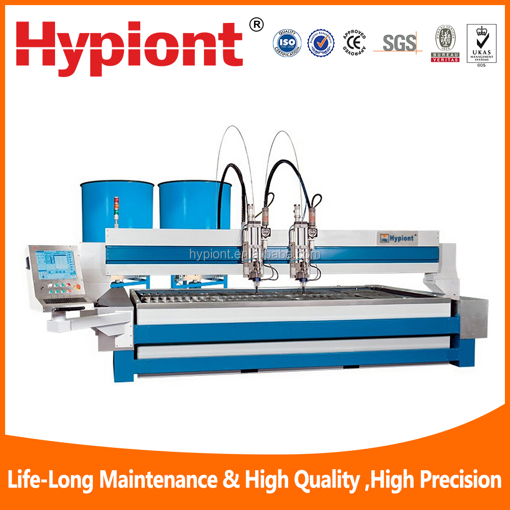 cheap price cnc water jet machine with CE TUV ISO9001 certifications and for granite cutting supplied by company directly