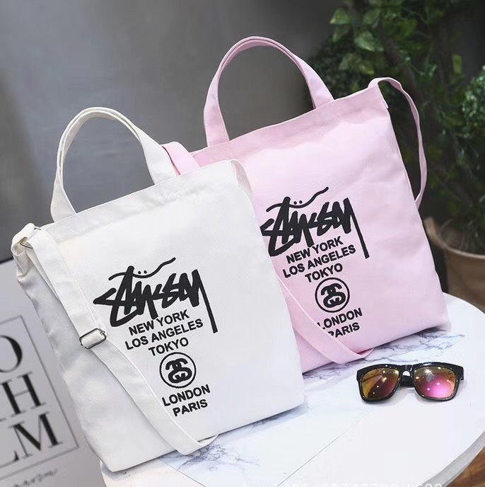 10pcs MOQ customized logo canvas cotton tote bag with double handle