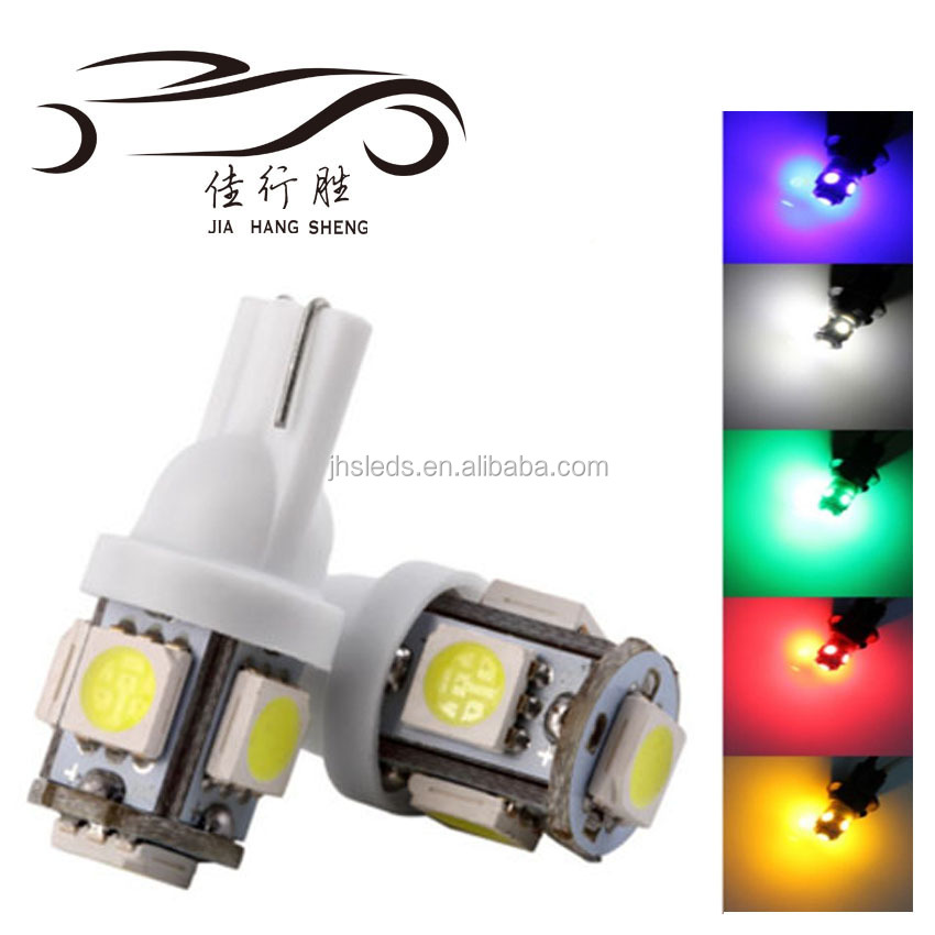 Good quality T10 5050 5SMD Car LED Clearance Side marker Turn light white red blue green yellow pink
