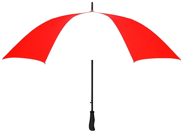 "Red & White WINDPROOF 64"" Arc TYPHOON Auto Open GOLF Umbrella LIFETIME WARRANTY!"
