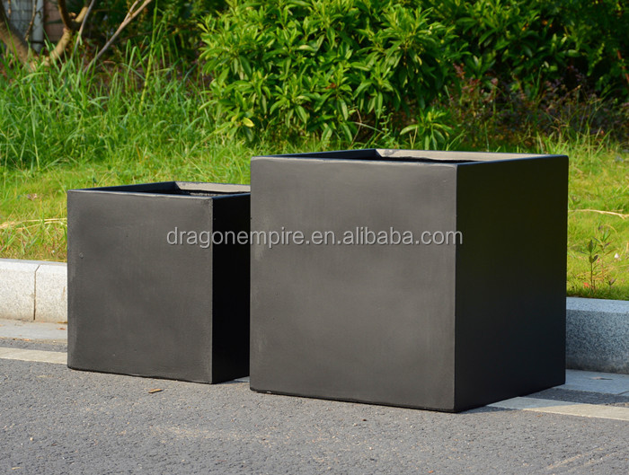 Outdoor Large Rectangular Fiberglass Cement Planter Box