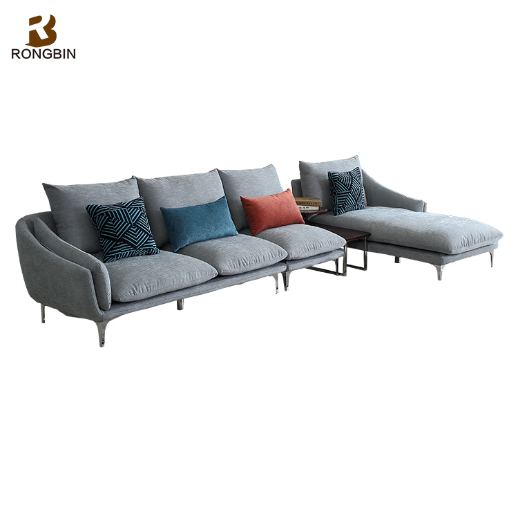 10 Seater Couch Drawing Room Modern Simple Fabric Linen Sofa Set Design