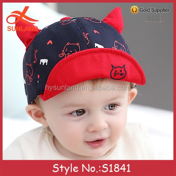 S1841 new trend baby crimping flat peaked caps flat bill baby hat wholesale  flip up brim hats ca7503a1165