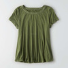 Wholesale Online Store Plain Blank Soft Rayon Polyester Plus Size Female Summer Short Sleeve O-Neck Blank Tshirt No Label