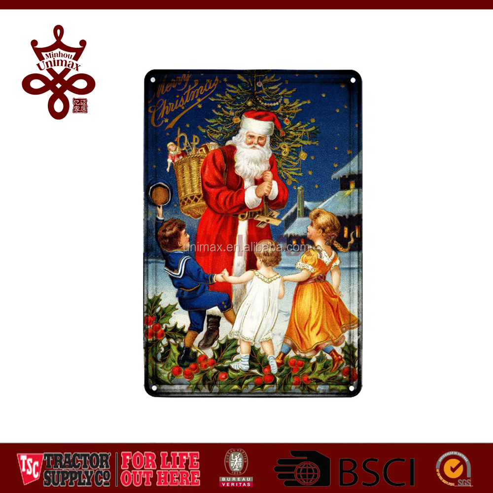 Christmas Door decoration Metal plaque factory wholesale high quality metal small plaque