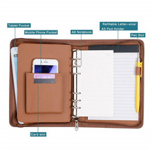 Business <span class=keywords><strong>Kantoor</strong></span> Conferentie Document Organizer A4 PU Leather Portfolio