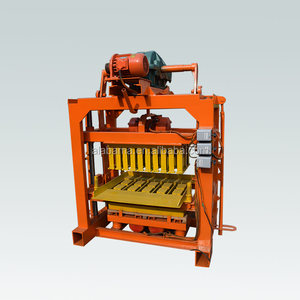construction equipment qmj4-40 manual hollow brick block machine for sale in philippines/concrete block making machine price