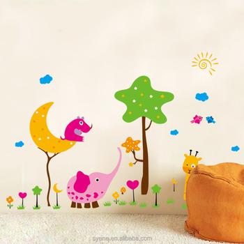 Baby Behang Boom.Syene Nieuwe Cartoon Dieren 3d Muursticker Boom Home Decor Familie