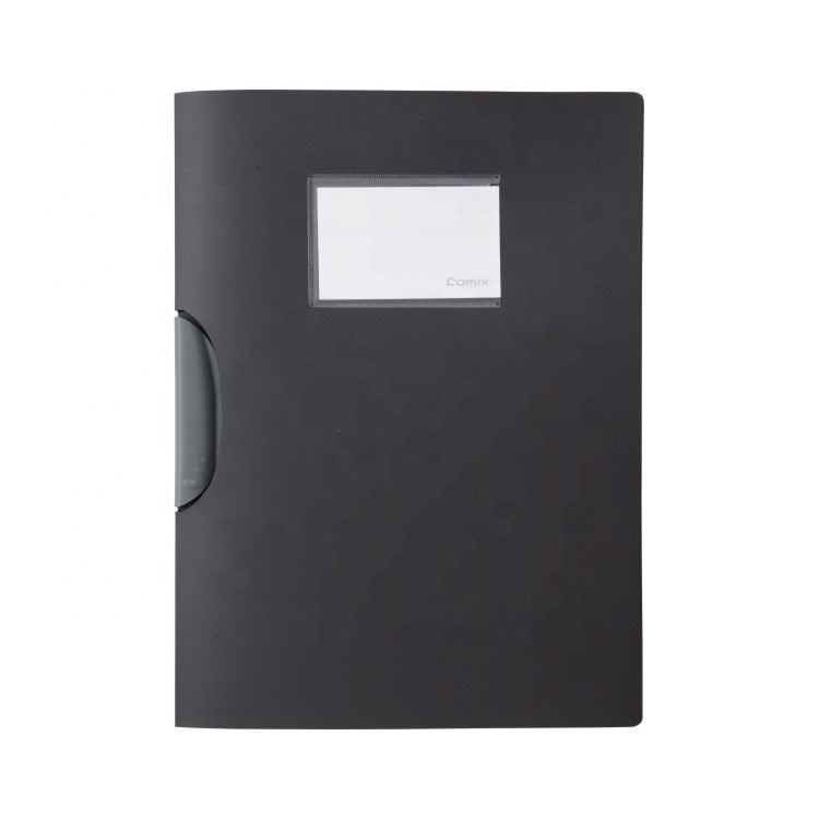 Comix Hot Sale PP Plastic Report Cover A4 Clip Pocket File Folder with Offset Printing