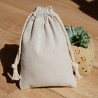 Cotton linen drawstring bag for packing logo printing linen sack jute bag