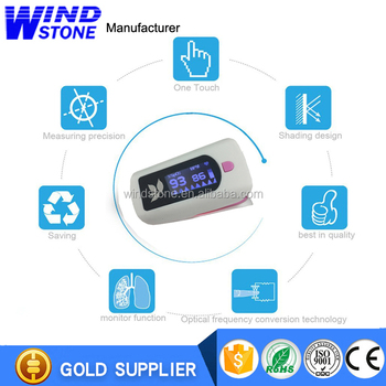 2017 Hot Sale LCD Display Finger Pulse Oximetet Perfusion Index Oxygen Saturation of Blood