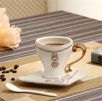 manufactory sale electroplating handle grace coffee cup set