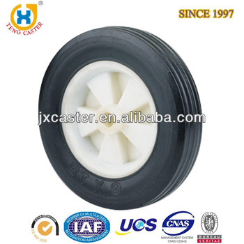 6-inch Rubber Wheel ,black solid rubber wheels for trolly,trolley wheel