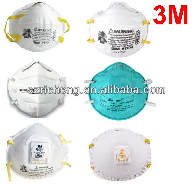 3m respirator 3M mask 3M N95 mask different types of mask 8210,9010,1860