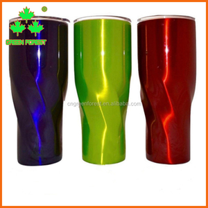 30oz Triple Insulated Twisted stainless steel Tumbler with lid