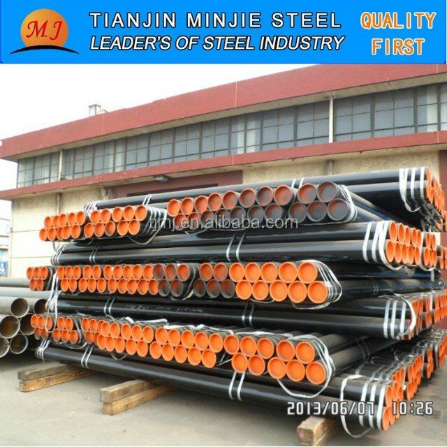 seamless steel pipe for petroleum or gas with black