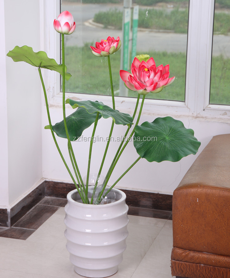 High Quality Wholesale Indoor Decorative Artificial Lotus Flower