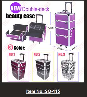 49d204b8d Tres Colores PVC Mac maquillaje caja/caja de herramientas salones de  belleza/profesional belleza