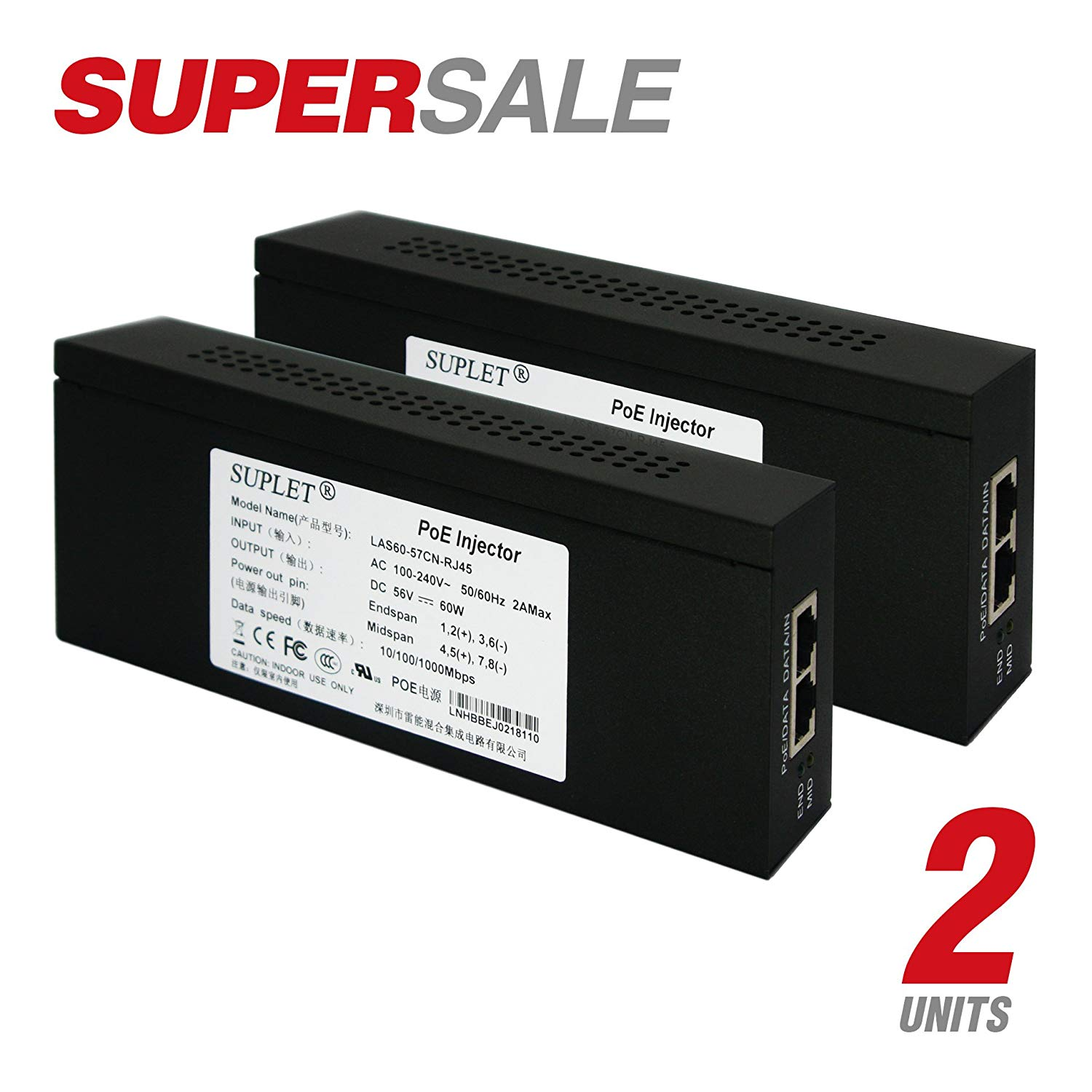 Cheap Current Supply Circuit Find Deals On Powersupplycircuit Batterycharger Solarbatterychargingcircuit Get Quotations Bundle Combo 2 Hikvision Single Port Poe Midspan Power Up To 60w Output