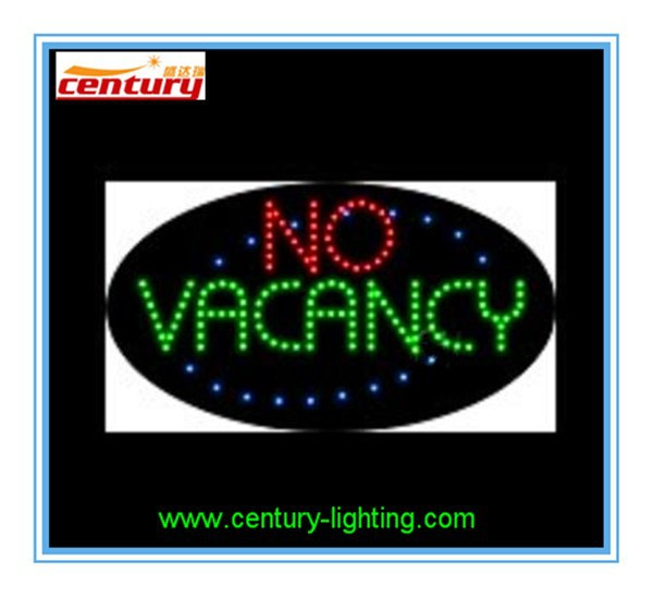 no vacancy animated led sign