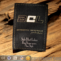 custom private woven jeans care label for garment