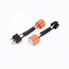 12V ceramic h4 LED Xenon headlight relay wiring harness extension cable h4 bulb connector sensor harness