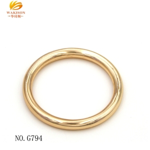 High End 38mm Nickle Closed Metal Closed O-ring for Handbag Purse Accessories