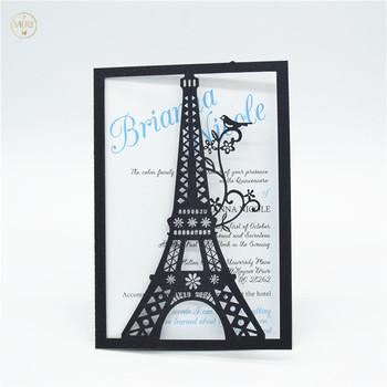 Torre Eiffel Láser Corte Boda Fiesta Tarjetas De Invitación Buy Invitación De Boda Exclusiva Diseño De Tarjeta De Invitación Tarjetas De Invitación