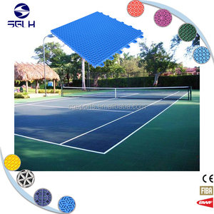 PP safe and durable interlocking exercise flooring for indoor sport use