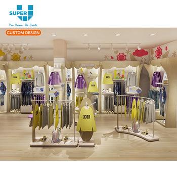 Design Kinderkleding.Groothandel Kleren Winkel Interieur Mode Bodysuit Kinderkleding