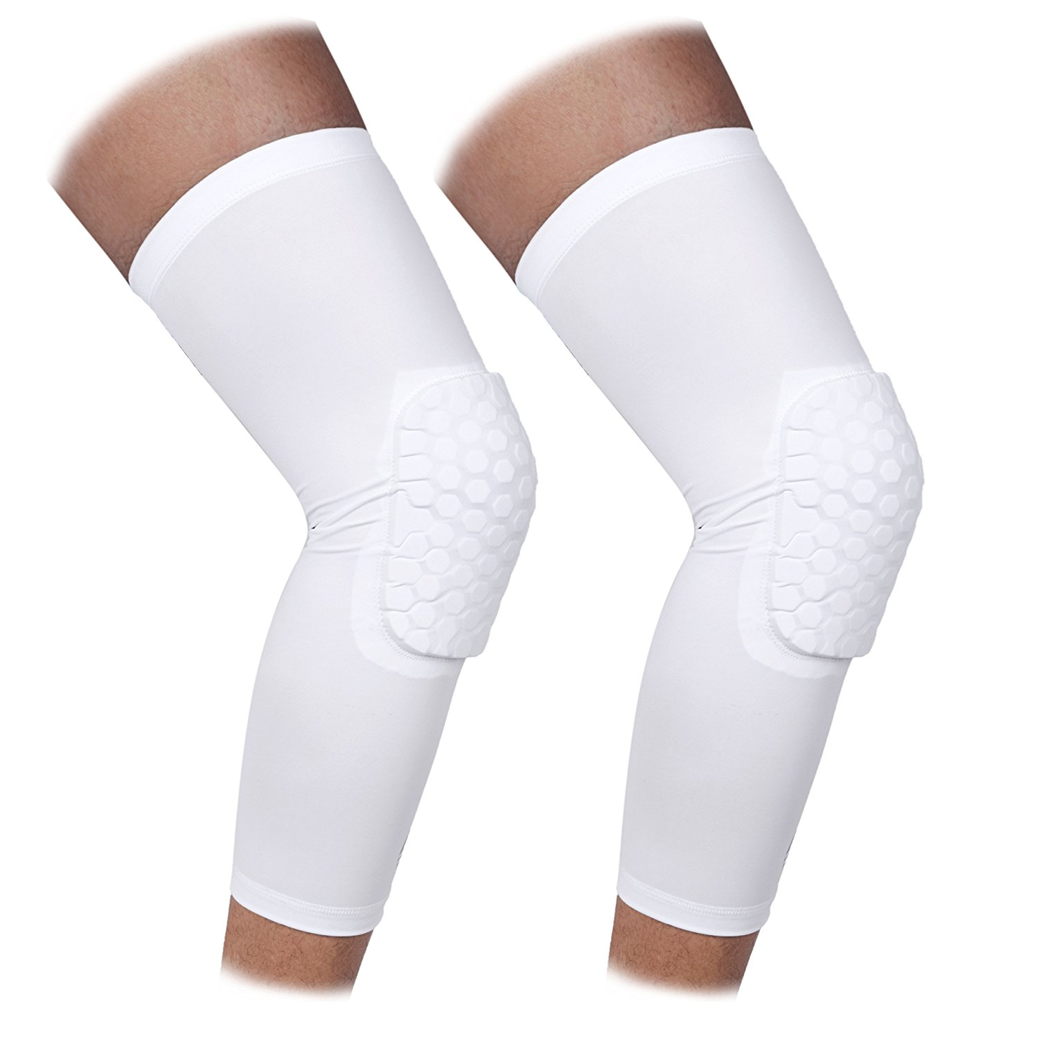 3-5 Days Delivery Knee Pads Honeycomb Compression Long Leg Sleeve Protector Gear Knee Pads Crashproof Antislip Basketball Protective Pad Support Guard