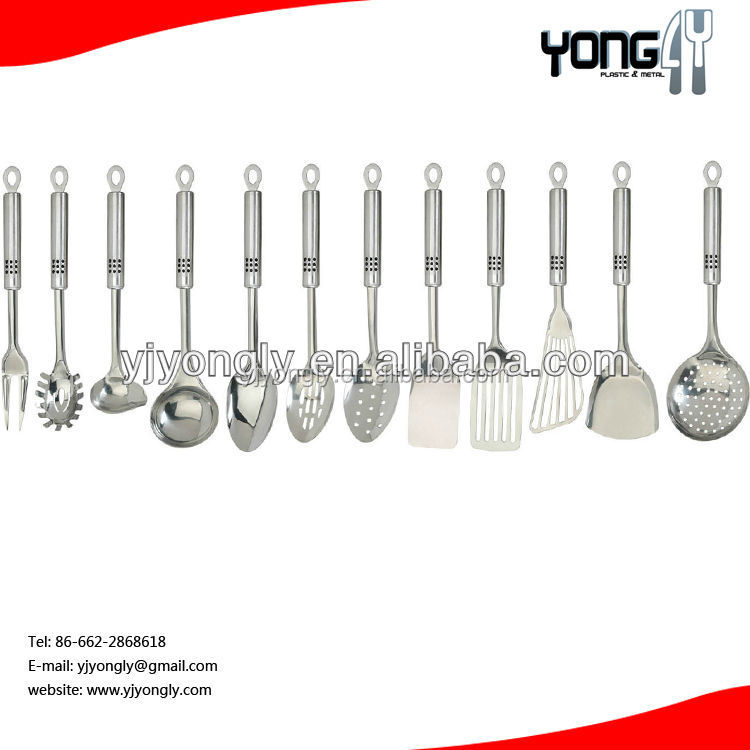 Professional Grade Stainless Steel Flatware 6 Piece Kitchen Tool and Gadget Set